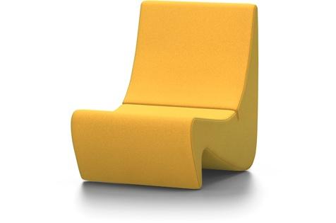 vitra panton sessel amoebe goldgelb vitra by raum und form m nster. Black Bedroom Furniture Sets. Home Design Ideas