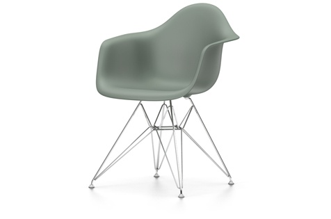 Eames Plastic Armchair : Vitra eames plastic armchair dar neue höhe moosgrau raum und