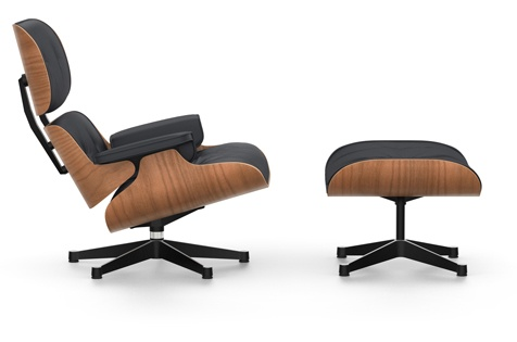 Eames Lounge Stoel : Eames lounge chair ottoman kirschbaum vitra by raum und form